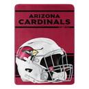 Arizona Cardinals Blanket 46x60 Micro Raschel Run Design Rolled