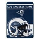 Los Angeles Rams Blanket 46x60 Micro Raschel Run Design Rolled