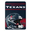 Houston Texans Blanket 46x60 Micro Raschel Run Design Rolled