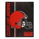 Cleveland Browns Blanket 50x60 Raschel Restructure Design