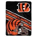 Cincinnati Bengals Blanket 60x80 Raschel Slant Design