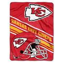 Kansas City Chiefs Blanket 60x80 Raschel Slant Design