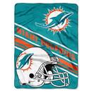 Miami Dolphins Blanket 60x80 Raschel Slant Design