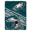 Philadelphia Eagles Blanket 60x80 Raschel Slant Design