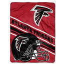 Atlanta Falcons Blanket 60x80 Raschel Slant Design