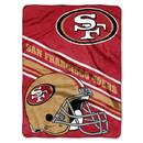 San Francisco 49ers Blanket 60x80 Raschel Slant Design