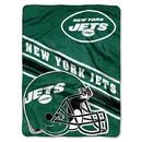New York Jets Blanket 60x80 Raschel Slant Design