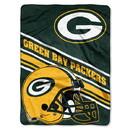 Green Bay Packers Blanket 60x80 Raschel Slant Design