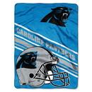 Carolina Panthers Blanket 60x80 Raschel Slant Design