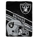 Oakland Raiders Blanket 60x80 Raschel Slant Design
