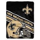 New Orleans Saints Blanket 60x80 Raschel Slant Design