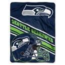 Seattle Seahawks Blanket 60x80 Raschel Slant Design