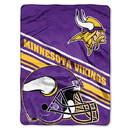 Minnesota Vikings Blanket 60x80 Raschel Slant Design