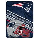 New England Patriots Blanket 60x80 Raschel Slant Design