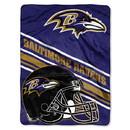 Baltimore Ravens Blanket 60x80 Raschel Slant Design