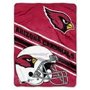 Arizona Cardinals Blanket 60x80 Raschel Slant Design