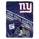 New York Giants Blanket 60x80 Raschel Slant Design