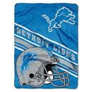Detroit Lions Blanket 60x80 Raschel Slant Design