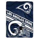Los Angeles Rams Blanket 60x80 Raschel Slant Design