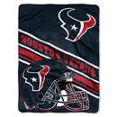 Houston Texans Blanket 60x80 Raschel Slant Design