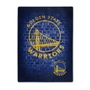 Golden State Warriors Blanket 60x80 Raschel Street Design