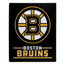 Boston Bruins Blanket 50x60 Raschel Interference Design