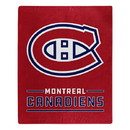 Montreal Canadiens Blanket 50x60 Raschel Interference Design Special Order