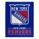 New York Rangers Blanket 50x60 Raschel Interference Design