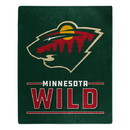 Minnesota Wild Blanket 50x60 Raschel Interference Design