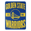 Golden State Warriors Blanket 46x60 Micro Raschel Clear Out Design Rolled
