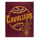 Cleveland Cavaliers Blanket 50x60 Raschel Blacktop Design Special Order