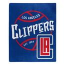 Los Angeles Clippers Blanket 50x60 Raschel Blacktop Design Special Order