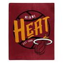 Miami Heat Blanket 50x60 Raschel Blacktop Design Special Order