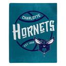 Charlotte Hornets Blanket 50x60 Raschel Blacktop Design Special Order
