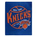 New York Knicks Blanket 50x60 Raschel Blacktop Design