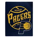 Indiana Pacers Blanket 50x60 Raschel Blacktop Design Special Order