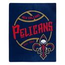 New Orleans Pelicans Blanket 50x60 Raschel Blacktop Design