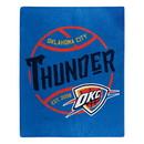 Oklahoma City Thunder Blanket 50x60 Raschel Blacktop Design