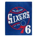 Philadelphia 76ers Blanket 50x60 Raschel Blacktop Design