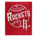 Houston Rockets Blanket 50x60 Raschel Blacktop Design