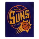 Phoenix Suns Blanket 50x60 Raschel Blacktop Design Special Order