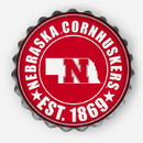 Nebraska Cornhuskers Sign Bottle Cap Style Distressed