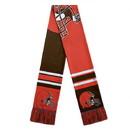 Cleveland Browns Scarf Colorblock Big Logo Design