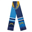 Los Angeles Chargers Scarf Colorblock Big Logo Design