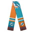 Miami Dolphins Scarf Colorblock Big Logo Design