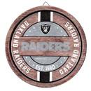 Oakland Raiders Sign Wood Barrel Design Special Order