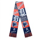 Detroit Tigers Scarf Printed Bar Design