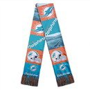 Miami Dolphins Scarf Printed Bar Design
