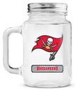 Tampa Bay Buccaneers Mason Jar Glass With Lid