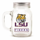 LSU Tigers Mason Jar Glass With Lid